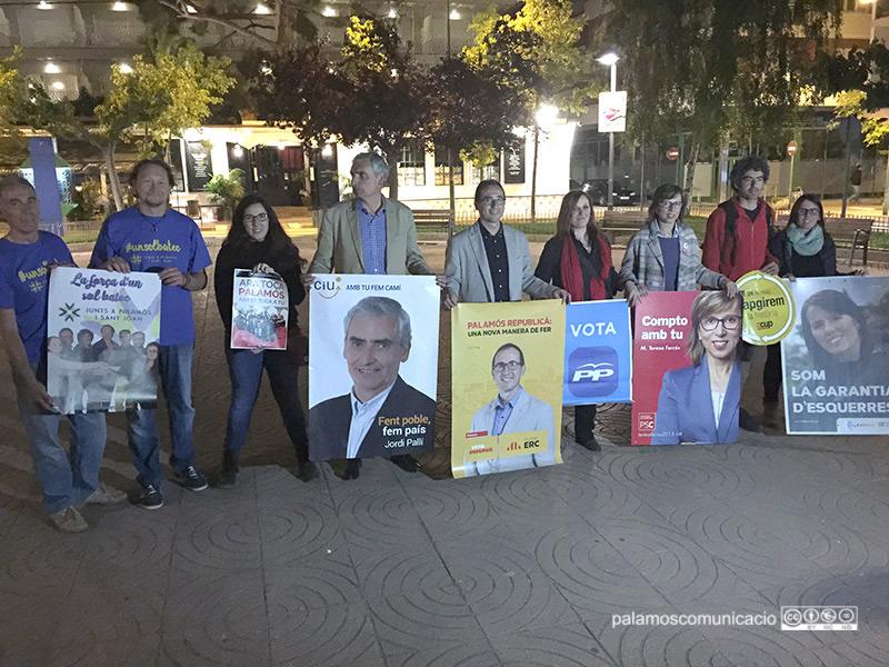 Aquestes són les vuit candidatures que optaran a l'alcaldia de Palamós el 24 de maig.