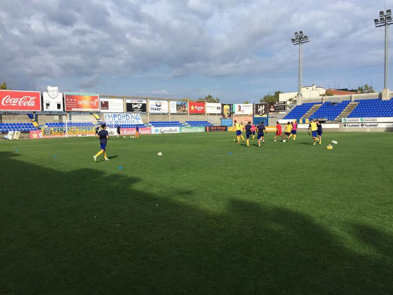 El Palamós ha empatat el partit jugat avui amb el Sant Andreu.