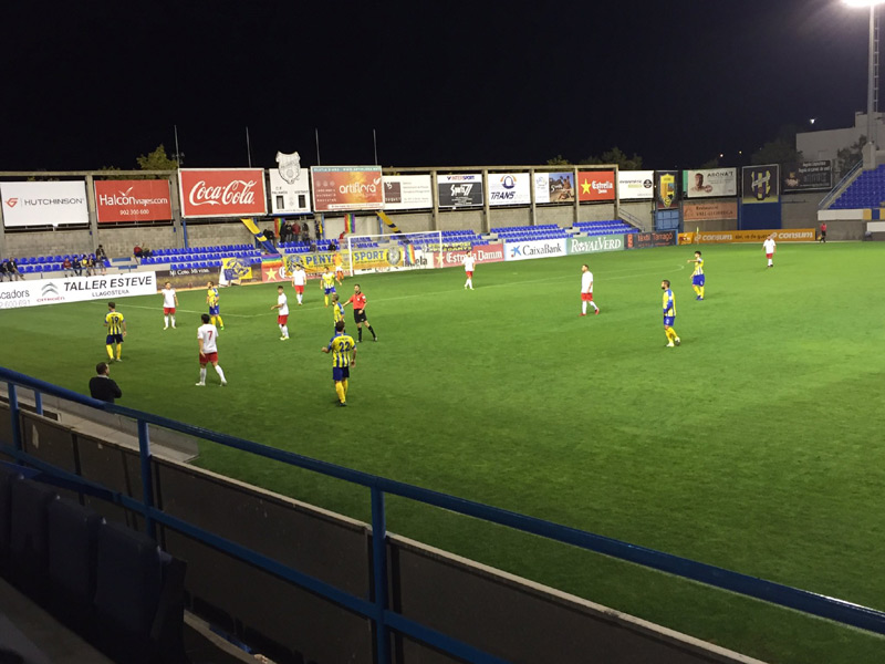 El Palamós ha empatat el partit jugat avui amb el Castelldefels.