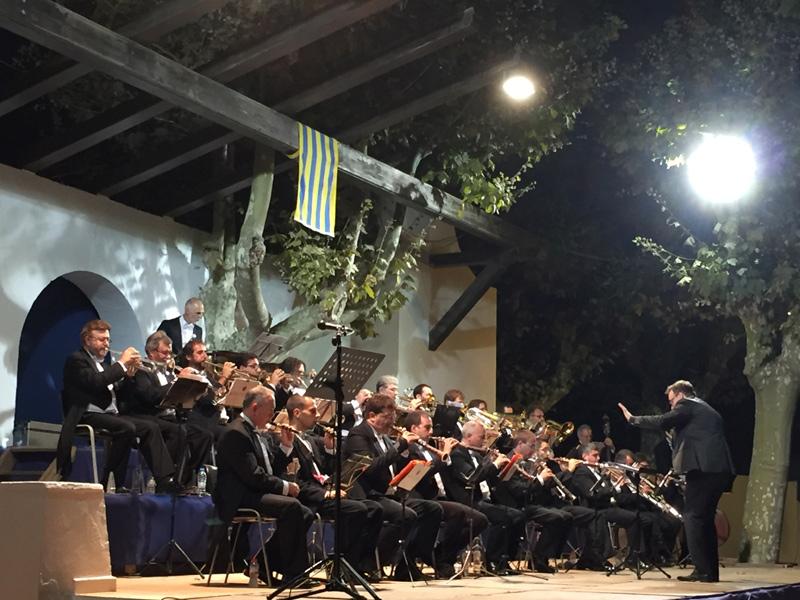 Concert de cobla al parc de l'Arbreda.