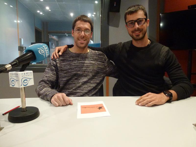 Jordi Rodríguez i Marc Pablo, del Club de Rem Palamós, a l'espai 'Taula Esportiva'.