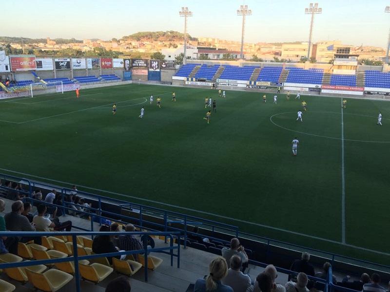 El Palamós segueix sense guanyar després de cinc partits. (Foto: Ramon Ribas).