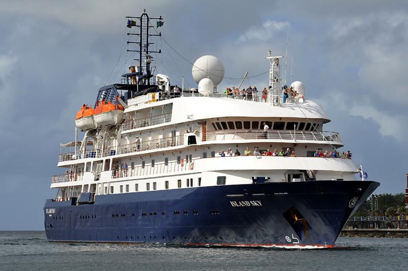 El creuer Island Sky, aquí en una imatge d'arxiu, visita avui Palamós.