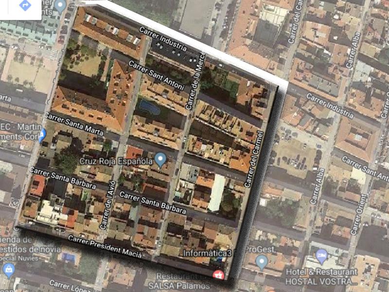 Delimitació del sector de l'Eixample de Palamós que es reurbanitzarà.