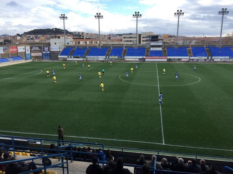 El Palamós ha sumat avui la cinquena derrota consecutiva. (Foto: Ramon Ribas).