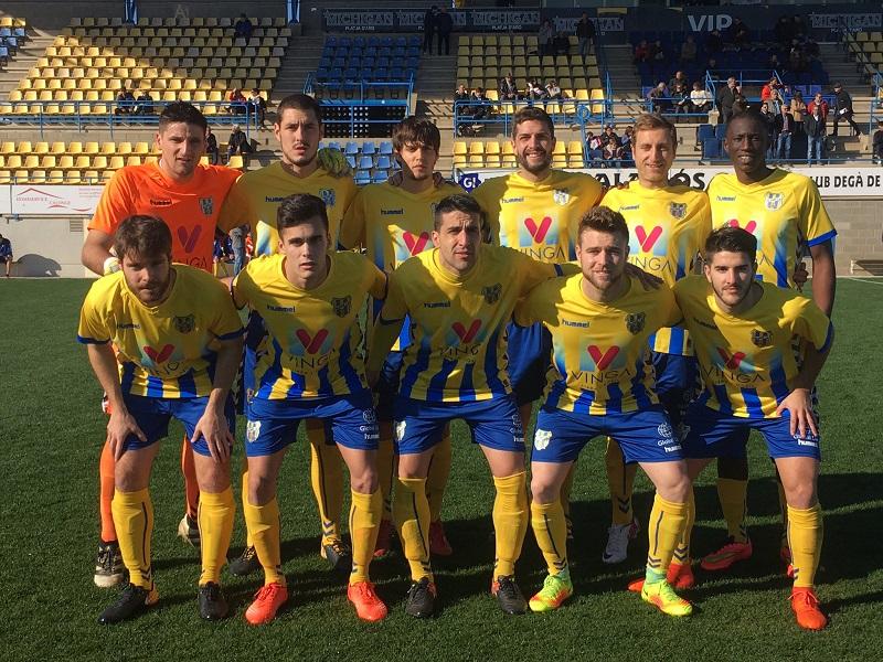 Un Palamós amb moltes cares noves, no ha pogut aconseguir la victòria en el partit d'avui. (Foto: FC Santfeliuenc).
