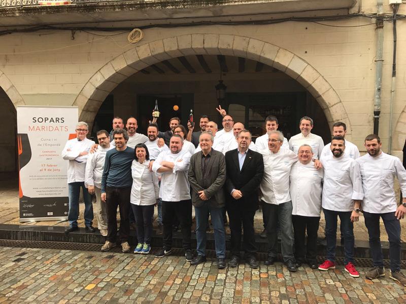 Els cuiners col•laboren estretament amb els productors de vi de la Denominació d'Origen Empordà.