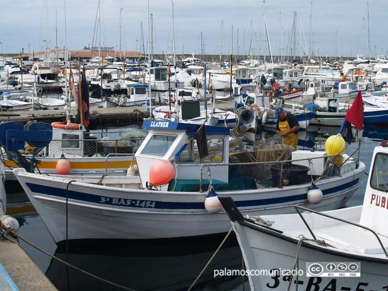 Embarcació de pesca artesanal al port de Palamós.
