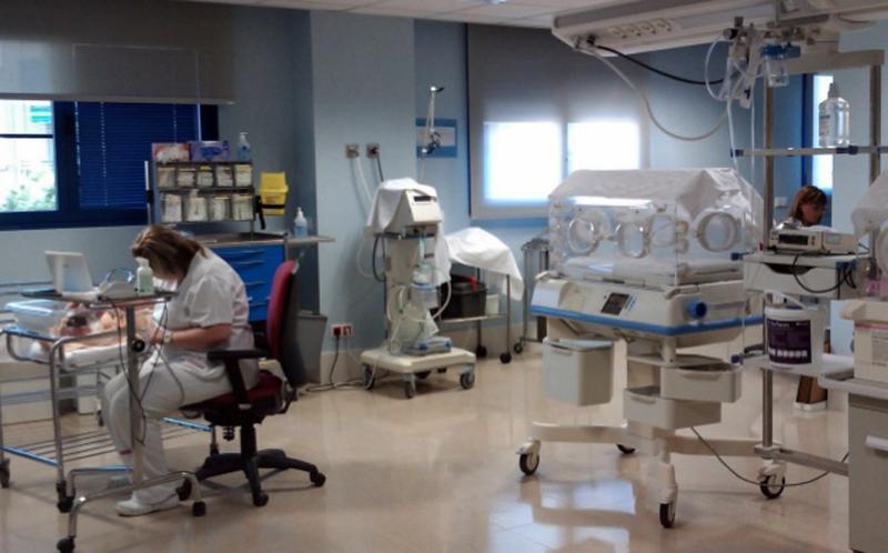 Sala prenatal, a l'hospital de Palamós. (Foto: SSIBE).