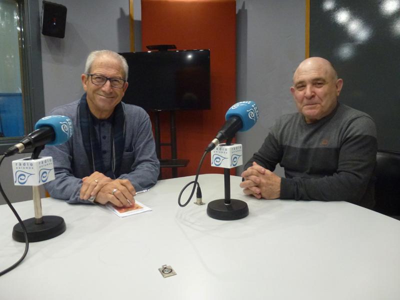 Francesc Magán i Jaume Sirvent, de l'Associació Gent Gran de Palamós.