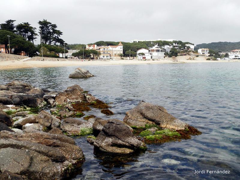 Nivell del mar baix, amb roques exposades fora l'aigua, a Sa Tamardia. (Foto: tempspalamos.blogspot.com).