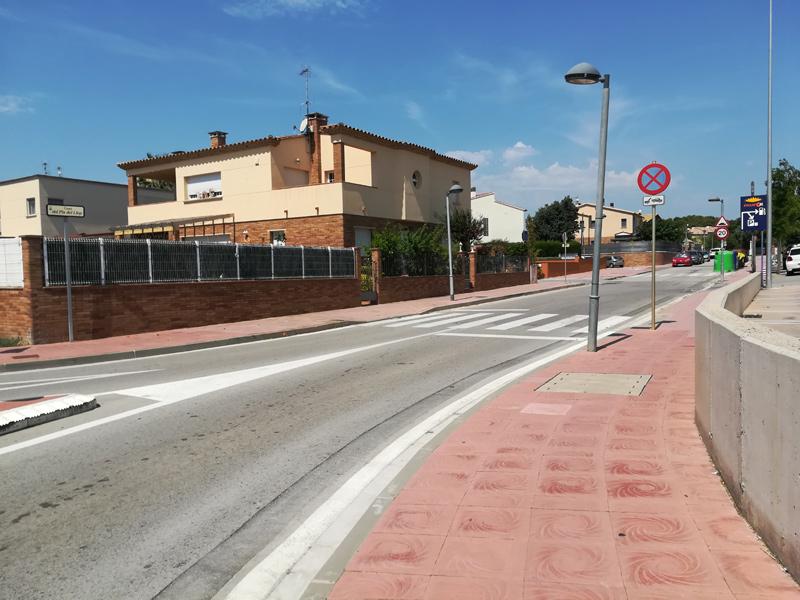 L'entrada a l'urbanització de Mas Pareras. (Foto: Ajuntament de Palamós).