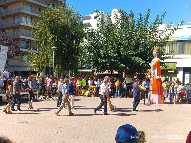 Actes de la Diada, l'any passat, a la Plaça de Catalunya de Palamós.