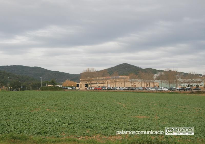 Zona de La Pietat, amb la fàbrica Hutchinson al fons, on el govern proposava ubicar el nou sòl industrial.