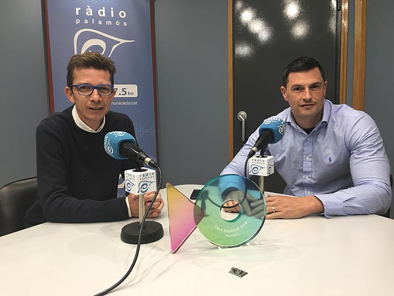 Ventura Puig i Toni Bachiller, dinamitzador comercial i president de Fecotur, respectivament.