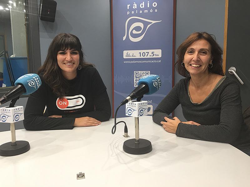 Núria Lisbona i Lourdes Ferrando, tècniques de les àrees de Joventut i d'Immigració i Ciutadania, respectivament.