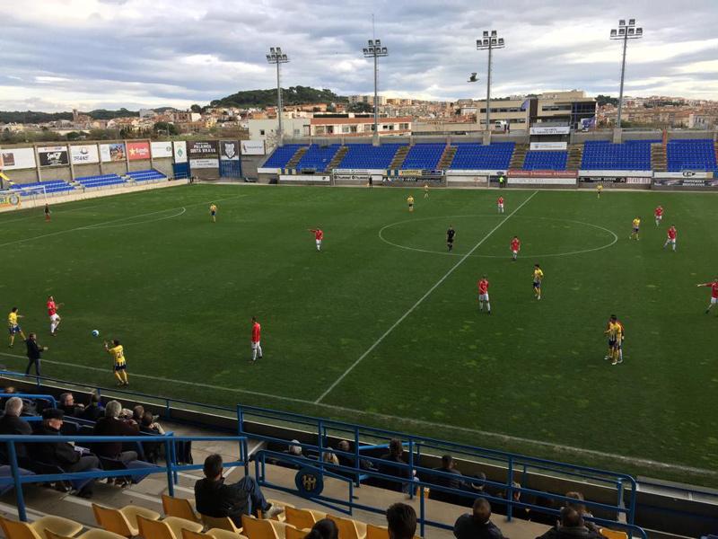 El Palamós ha sumat avui la tercera victòria de la temporada a casa. (Foto: Ramon Ribas).