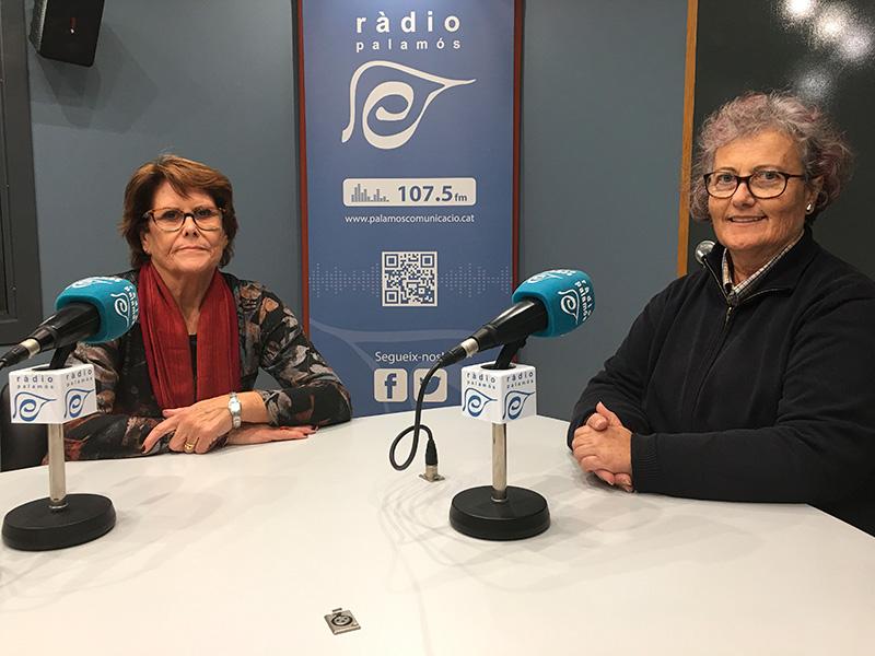 Hortènsia Doporto i Laura Flórez, responsables de la delegació a Palamós de la Fundació Oncolliga.