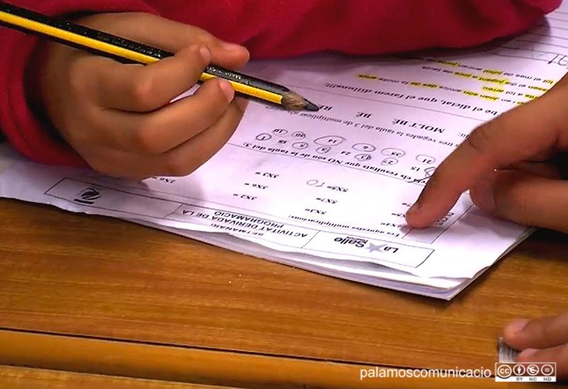 En aquest programa pedagògic, els voluntaris ajuden els estudiants a fer els deures.