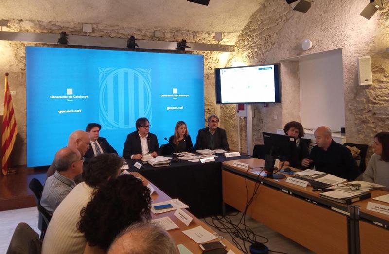 Reunió de la Comissió d'Urbanisme de Girona, ahir. (Foto: Generalitat de Catalunya)
