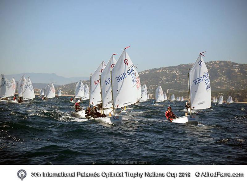 La regata Optimist Trophy viu avui la seva segona jornada de competició. (Foto: Alfred Farré).