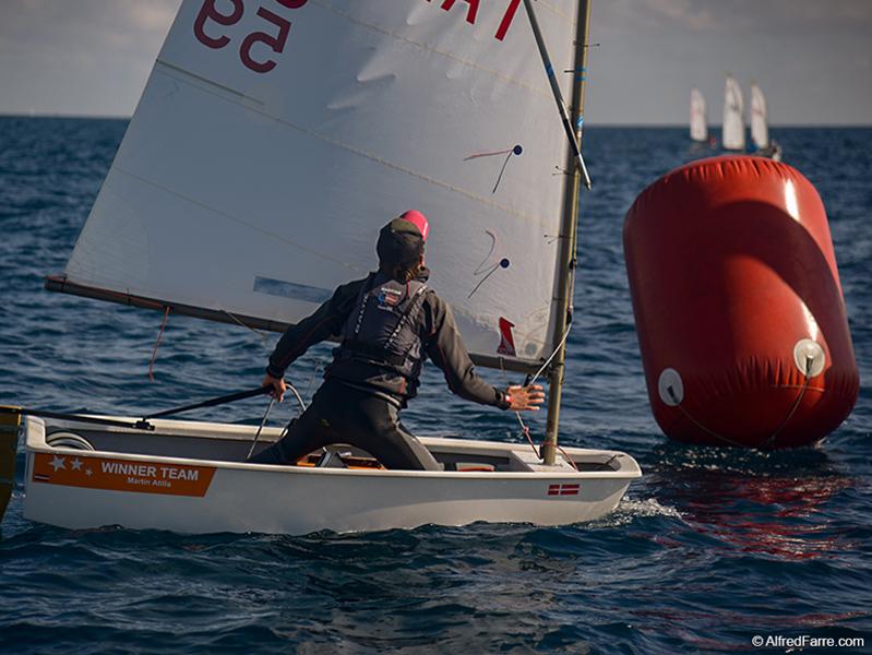 El letó Martin Atilla va tornar a guanyar l'Optimist Trophy. (Foto: Alfred Farré).