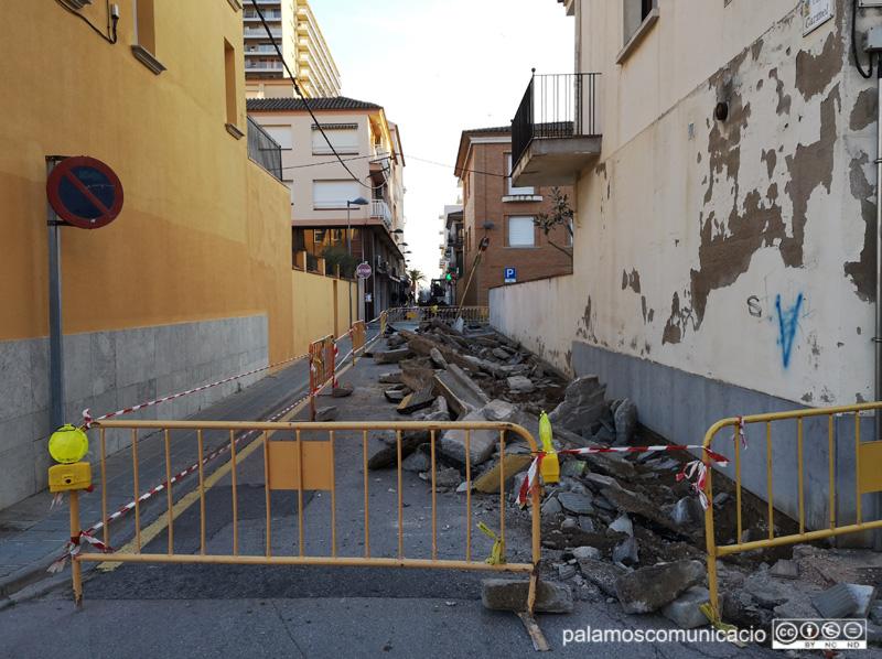 Ja han començat les obres al barri de l'Eixample.
