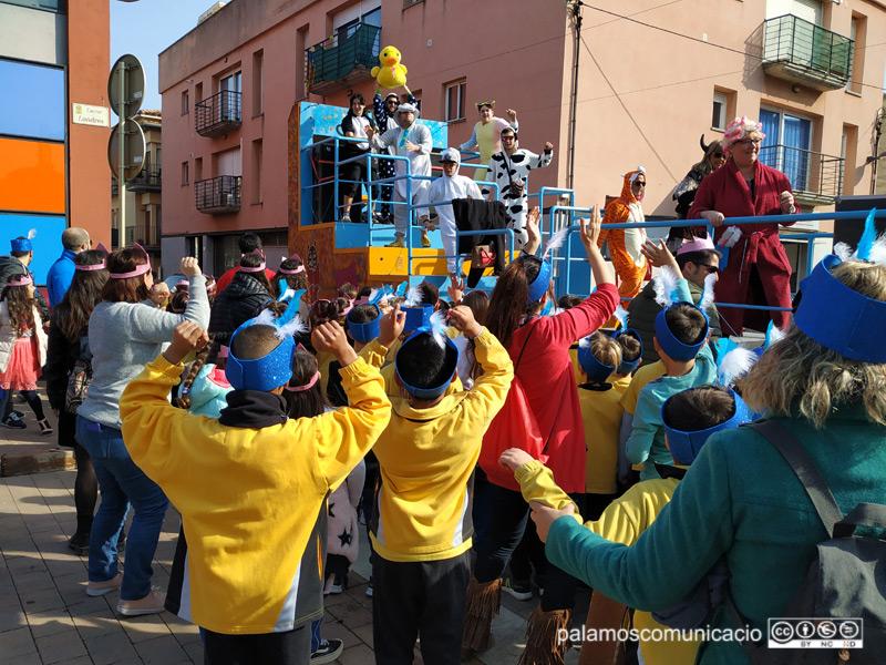 Un moment de la rua infantil del Carnaval de Palamós, aquest matí.