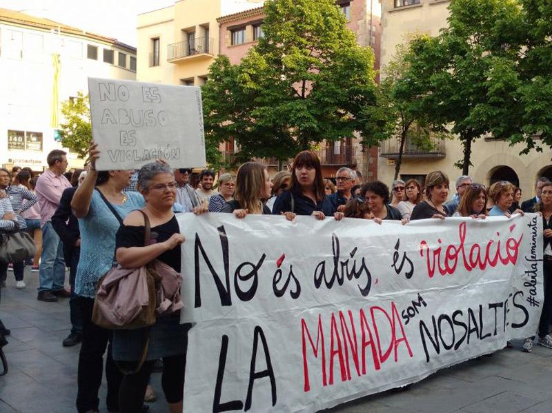 Manifestació contra la sentència judicial del cas de 'La Manada', en una imatge d'arxiu. (Foto: esquerra.cat)