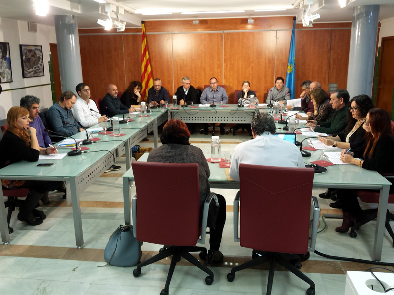 Ple de l'Ajuntament de Palamós en una imatge d'arxiu.