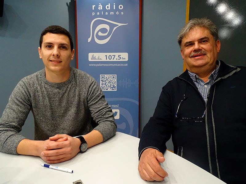 Joel Heras i Xavier Farrarons, president i secretari del Vall-llobrega Futbol Sala, respectivament.