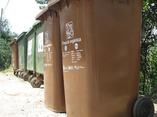 Contenidors de residus a Calonge.