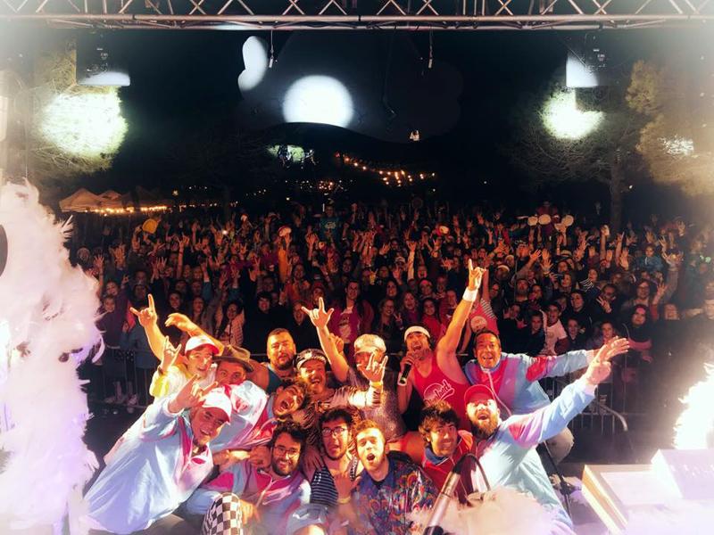 L'Orquestra Di-versiones, pletòrics desprès del concert de dissabte. (Foto: Festival Diverland).