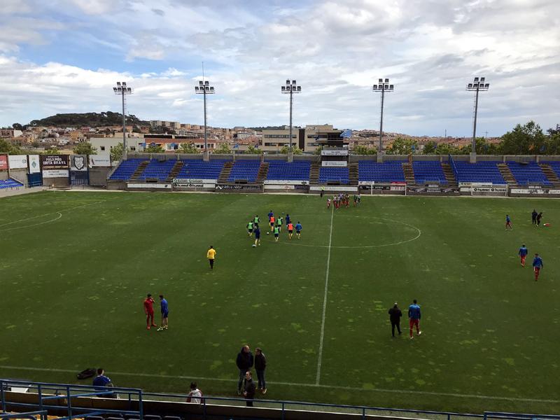 El Palamós va pedre ahir l'últim partit de la temporada que jugava a casa. (Foto: Palamós CF).