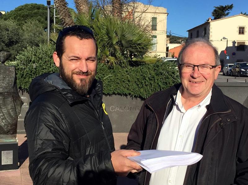 El cap de llista d'ERC, Miquel Bell-lloch, a l'esquerra, ha guanyat les eleccions a Calonge i Sant Antoni.