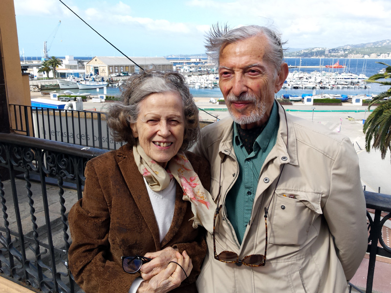 Anna Maria Kammüller i Josep Colomer. (Foto: Ajuntament de Palamós).