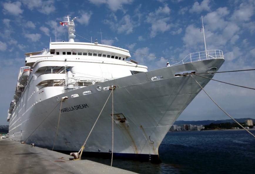 El Marella Dream, al port de Palamós. (Foto: Ports de la Generalitat).