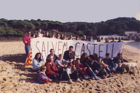 Gent de Salvem Castell, l'any 1992.