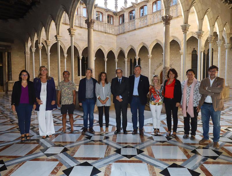 L'acte es farà al Palau de la Generalitat. En la imatge, l'executiva de l'AMI reunida amb el president Torra. (Foto: AMI).