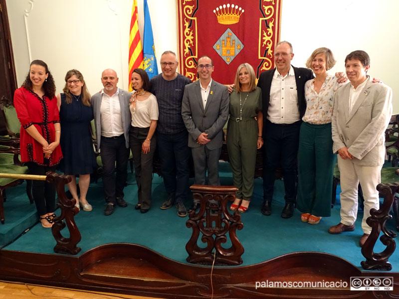 L'equip de govern de Palamós, amb els regidors electes d'ERC.