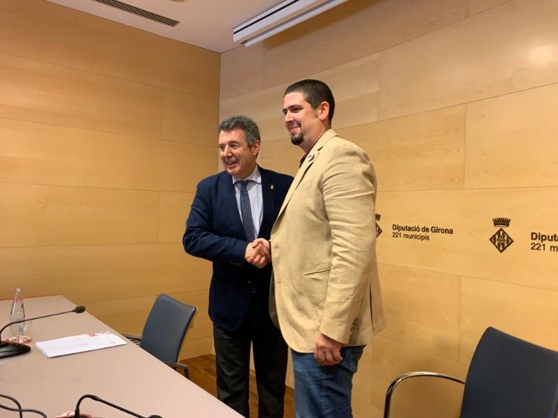 Miquel Noguer i Pau Presas, de Junts per Catalunya i ERC, respectivament, seran el president i vicepresident de la Diputació de Girona.