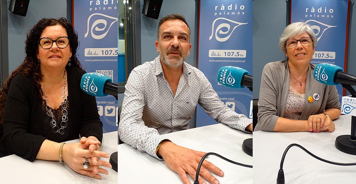 Raquel Gallego, Cristóbal Posadas i Roser Huete, representants de Palamós al Consell Comercal del Baix Empordà.
