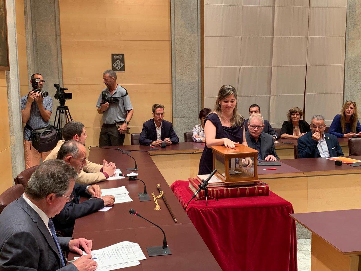 Maria Puig, el dia de la constitució del nou Ple de la Diputació de Girona. (Foto. Diputació de Girona).