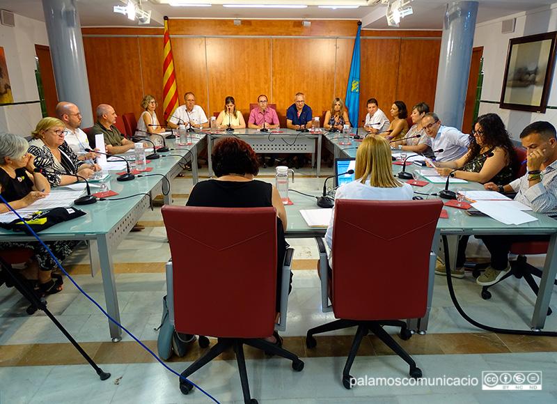 Imatge del Ple de l'Ajuntament de Palamós d'aquest mes de juliol.
