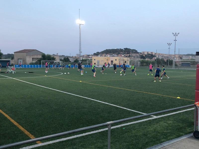 El Palamós CF va començar ahir els entrenaments de pretemporada. (Foto. Palamós CF).