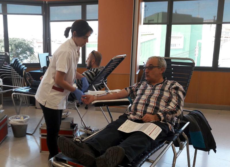 Imatge d'arxiu d'una donació de sang al CAP de Palamós. (Foto. Associació de Donants de sang de Girona).