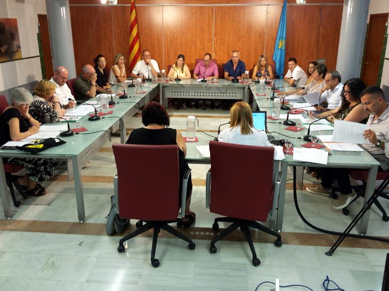 Imatge del Ple de l'Ajuntament de Palamós del pasat 9 de juliol. (Foto. Ajuntament de Palamós).