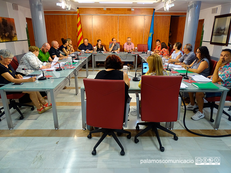 Imatge del Ple de l'Ajuntament de Palamós celebrat ahir.