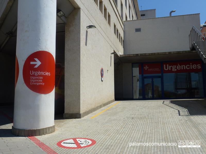 L'entrada d'urgències de l'hospital de Palamós.