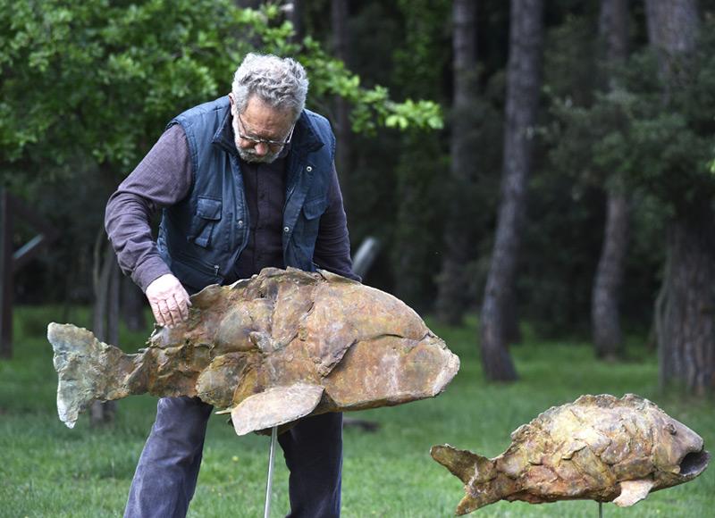 L'escultor Emili Armengol exposa a Calonge fins a l'11 de setembre. (Foto: Ajuntament de Calonge i Sant Antoni).